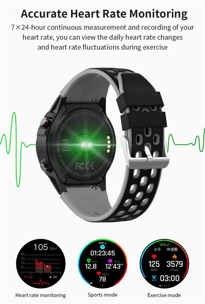 GPS Watch (21) heart rate monitoring