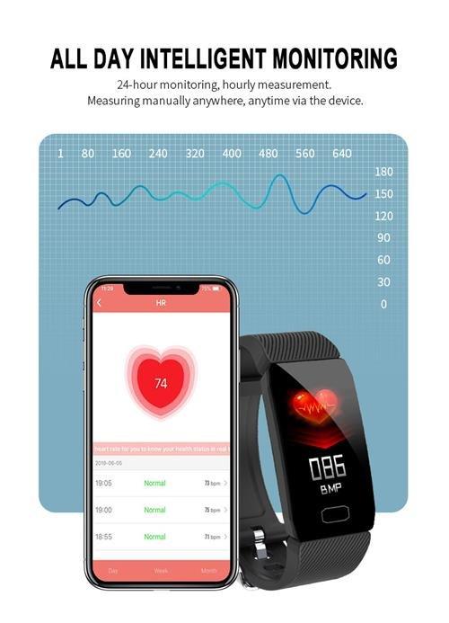 Q1 smart band heart rate 1